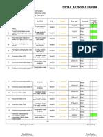 Engineering Detail Activity Jun 19 - Nov 19 KPI Input