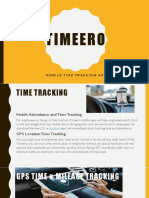 Timeero,Mobile Time Tracking App