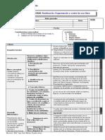 Rúbrica de Informe de Planeamiento, Programación y Control de Una Rev4