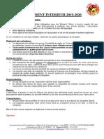 Reglement Interieur 2019-2020