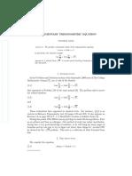 An Elementary Trigonometric Equation