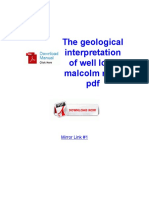 The Geological Interpretation of Well Logs Malcolm Rider PDF