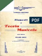 Corrado Martinez - Elementi Di Teoria Musicale