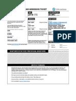 CFA Admit Card