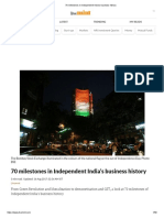 70 Milestones in Independent India's Business History