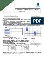 Concours Blanc ENSA Juillet 2015 Physique Chimie(1)