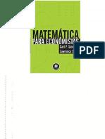 Matematica Para Economistas - Carl P. Simon