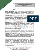 Concepto Técnico Eliminación Documental