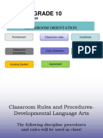 Classroom Rules and Procedures Power Point Dev