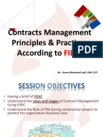 Contracts Principles & Practices According to FIDIC