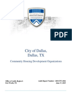 HUD's Audit of Dallas CHDOs