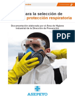 Guía Para La Selección de Equipos de Protección Respiratoria (Asepeyo)