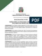 Norma 01-2019 Sobre Las Operaciones Logísticas - Aduanas República Dominicana - DGA