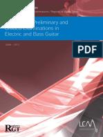 RGT Electric Guitar Syllabus