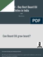 Beard Oil - Buy Best Beard Oil Online in India - Muuchstac