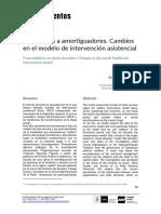 De aditivos a amortiguadores. Cambios en el modelo de intervención asistencial