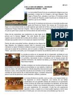 Informe de La Gira en Emberá