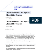 Digital Books and Your Rights
