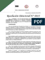 Resolucion Directoral Reconocimiento Del Municipio Escolar