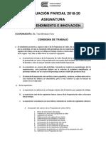 Consigna de Trabajo Parcial Emprendimiento e Innovación 2018-20