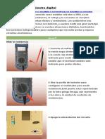 Cómo Usar Un Multímetro Digital