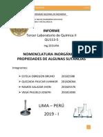 Laboratorio 3 de Química 2018 II