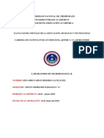 Infrome de Paramecio y Planaria