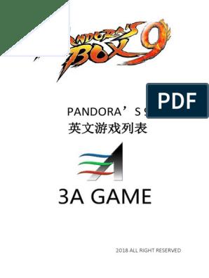 Pandora S Box 9 Game List Leisure Sports