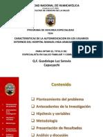 Caracteristicas de La Automedicacion en Los Usuarios