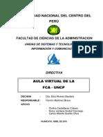 Directiva Del Aula Virtual