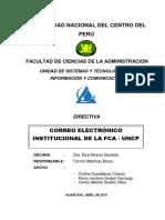Directiva Del Correo Institucional