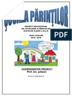 Proiect Consiliere Parinti