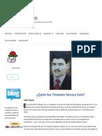 ¿Quién Fue Timoleón Morera Soto?