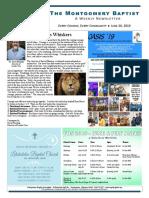 19 06 20 Montgomery Baptist Newsletter