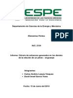 Informe Engranaje Piñon