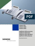Siemens Optipoint Economy Basic Standard Advance UG