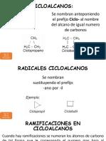 Química Orgánica 3ero Bgu Cicloalcanos