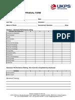 Ukps Appraisal Form