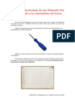 Manual Desmontar Lector Wii
