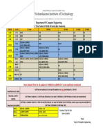CVV Time Table