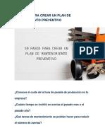 10 Pasos Para Crear Un Plan de Mantenimiento Preventivo