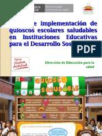 Taller de implementación de quioscos escolares saludables  en.ppt
