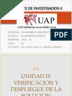 Unidad IV - Verificación y Despliegue de La Solución
