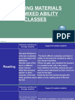 Adapting Materials for Mixed Ability Classes
