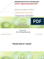 Projection of Solids Engineering Graphics Sem 1 GTU engineering