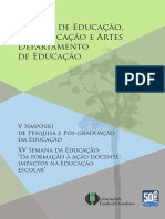 V simpósio de pesquisa e pós graduação em educação