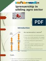 Agriprenuership in Rebuilding Agro Sector