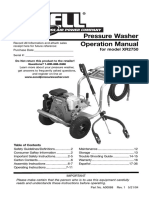 Ex-Cell XR2750 Pressure Washer Operation Manual