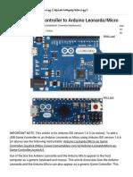 Add USB Game Controller to Arduino Leonardo_Micro_ 9 Steps