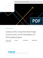 Analysis of the Giving Potential of High-Income Donors in the Washington Dc Metropolitan Region